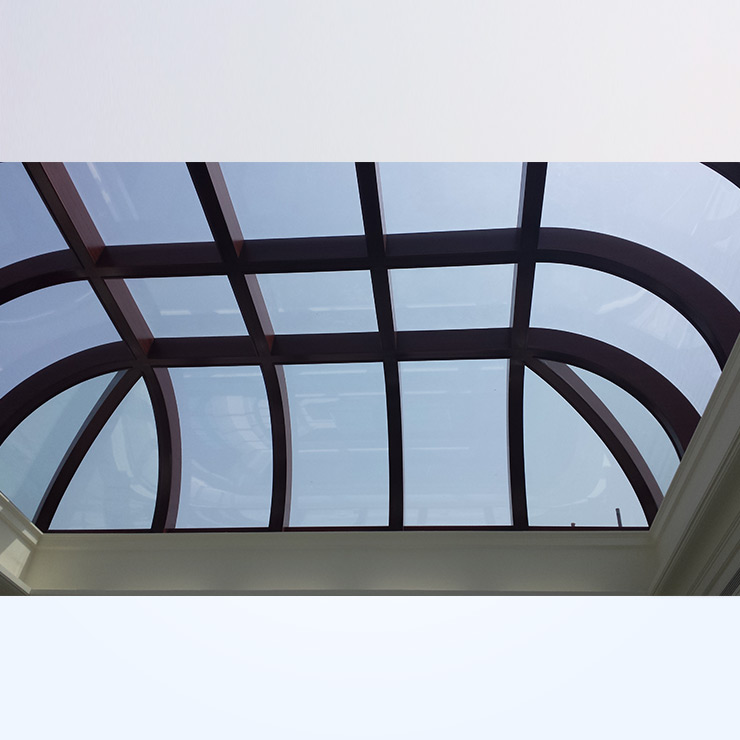 Standard Skylight - Curved & Flat Front View Inside View
